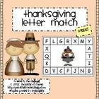 Thanksgiving Letter Match {Freebie}