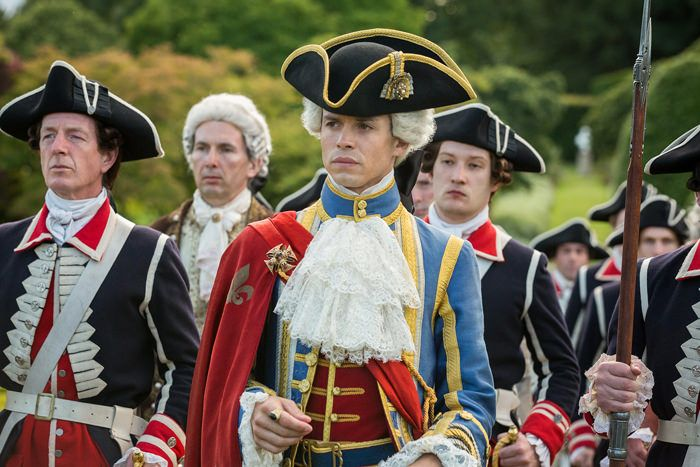 """Outlander S2 Ep5 """"Untimely Resurrection"""" King Louis and his entourage."""