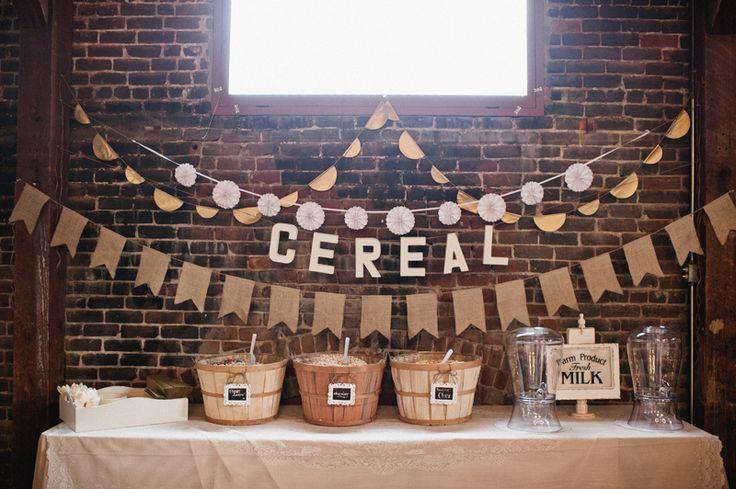 Kristin Rogers Photography #wedding #cerealbar
