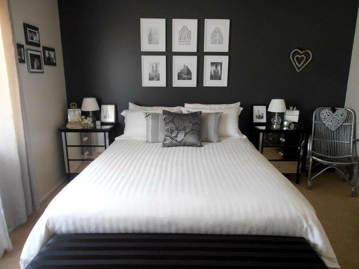 #Black and #White #bedroom #www.denovoconcepts.com
