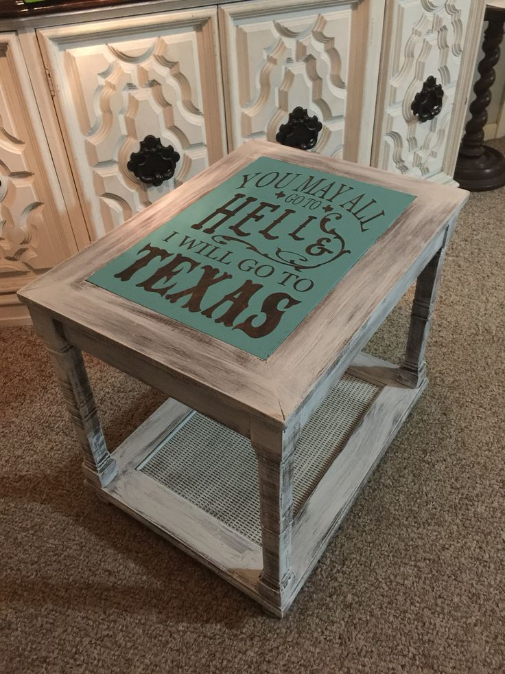 Old End Table With Broken Glass Top Gets An Upgrade With