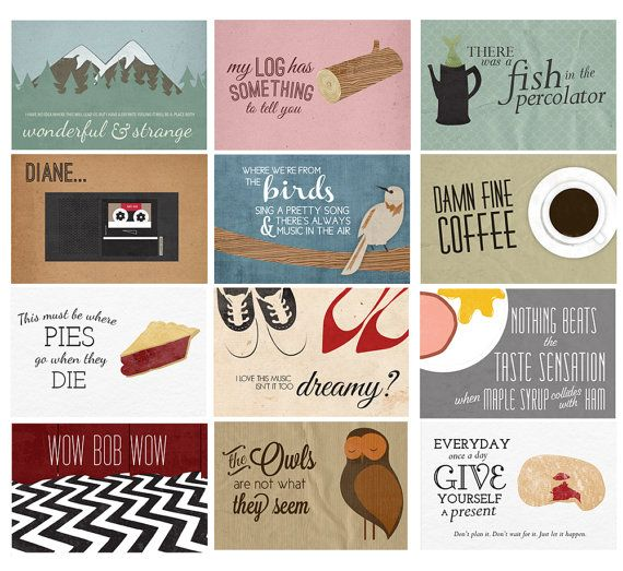 Twin Peaks Wall Calendar 2016 Holiday Gift por AndSoItGoesShop