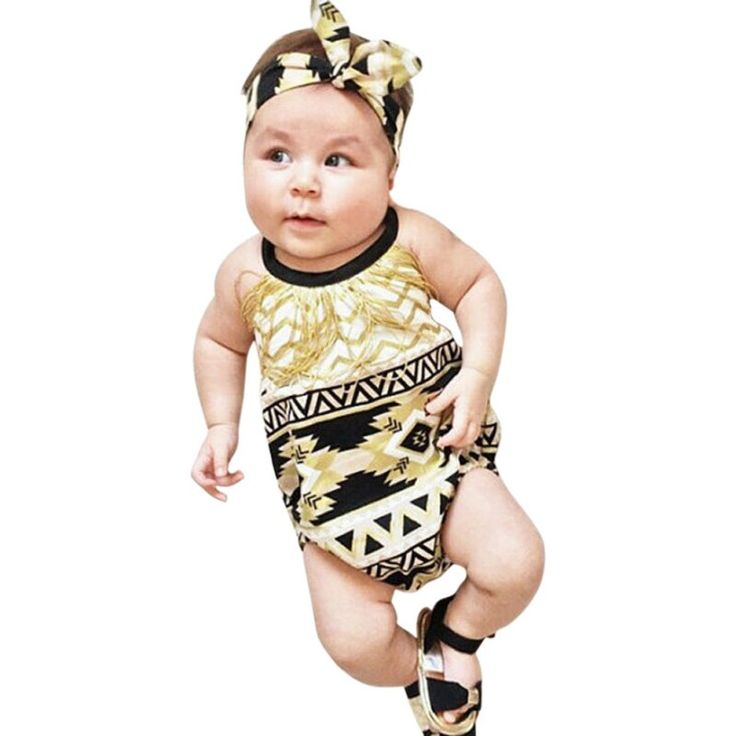 >> Click to Buy << Tassels Decor Baby Romper With Headband Newborn Girl Clothes Sleeveless Floral Outfits #Affiliate