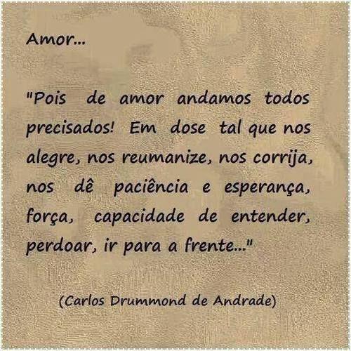 Fala-se tanto em amor, no entanto, é um bem que está em falta. É lamentável.....