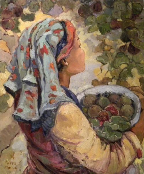 Maree Aviva, Oil on canvas, Ryp vye
