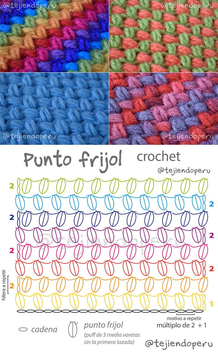 Bean Stitch Free Crochet Pattern
