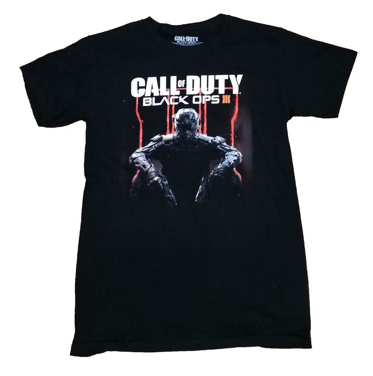 Lock and load with Treyarch's latest Black Ops title - Call of Duty: Black Ops 3! This officially licensed t-shirt from the hit first-person shooter features the cover art and logo from the game. Men'