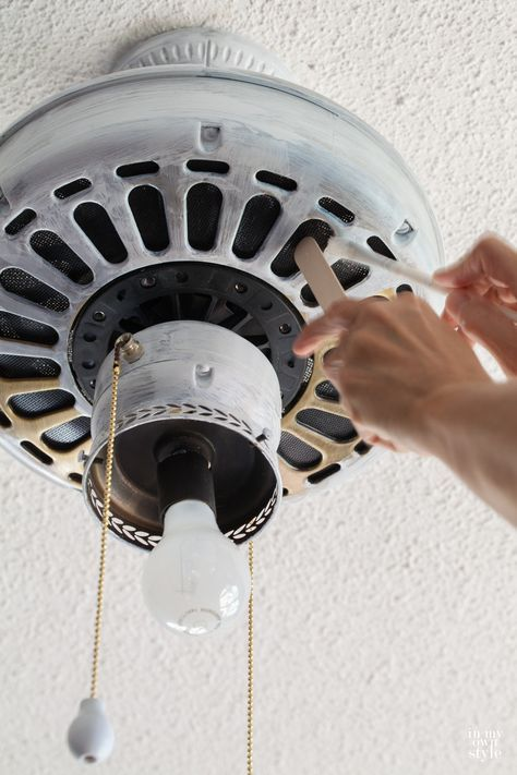 Tutorial on how to paint a ceiling fan without removing it