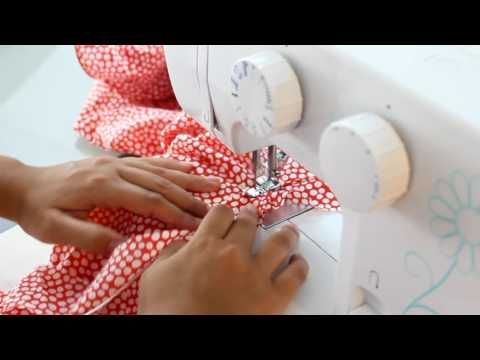 Cómo poner el cordón de escote a tu traje de flamenca - Tutorial - YouTube