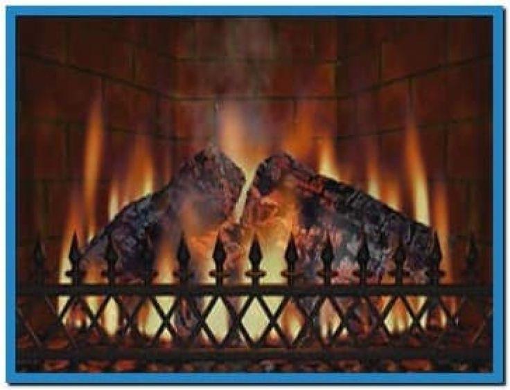 Live Fireplace Screensaver Part - 39: Virtual Fireplace Screensaver Vista - Download Free
