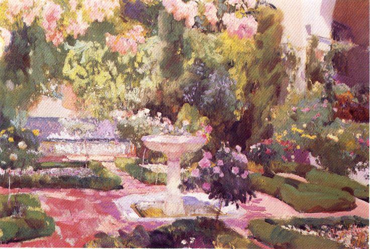 Joaquín Sorolla ~ Jardín de la casa de Sorolla.