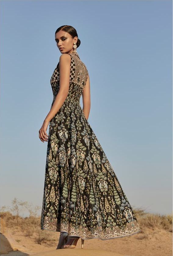 30e14e88fdcd ... Spring Summer 2019. Love this Black Forest hand painted Anita Dongre  evening midi dress.  Frugal2Fab
