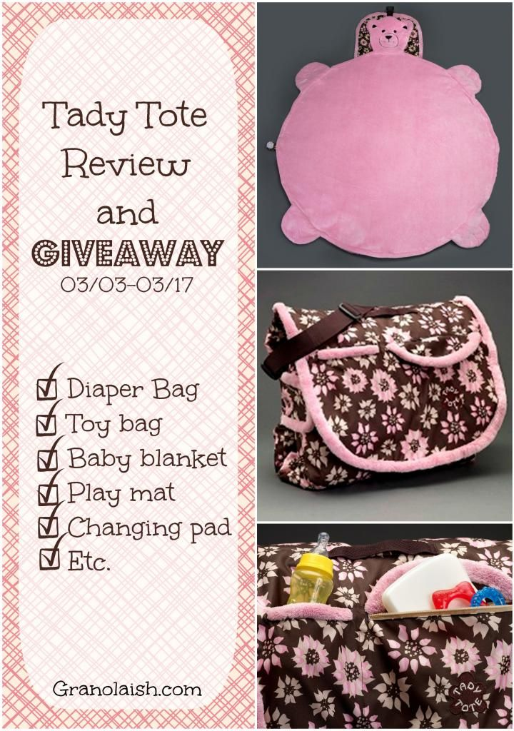 Tady Tote Review and #Giveaway from @Granolaish - 03/03-03/17 #UndertheRainbow #Giveaway Hop