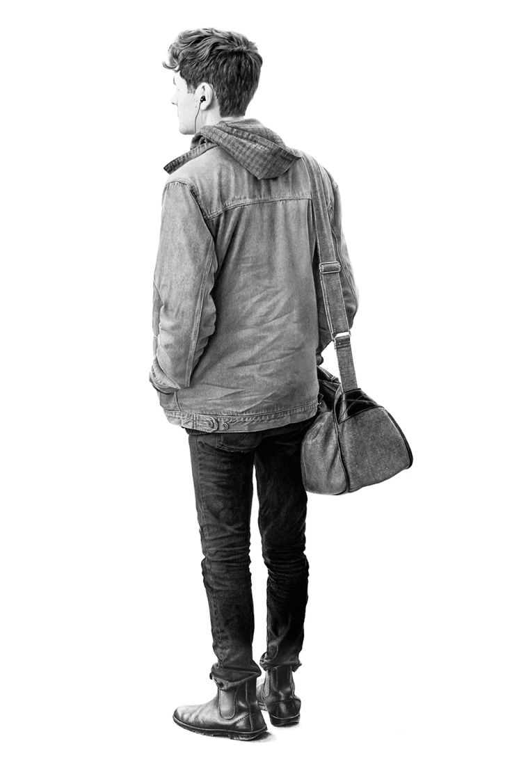 Vancouver artist Brian Boulton captures singular moments of everyday life in his detailed graphite drawings of anonymous subjects.