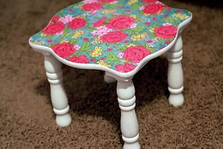 diy modge podged furniture