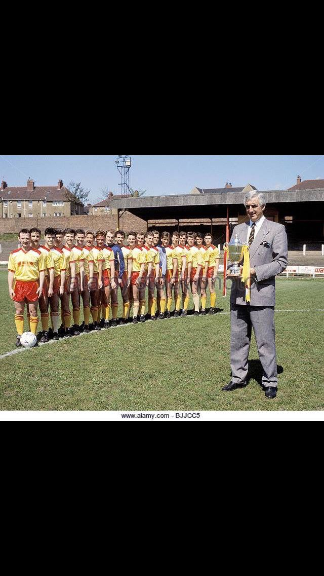 D Provan and Albion Rovers 1989.