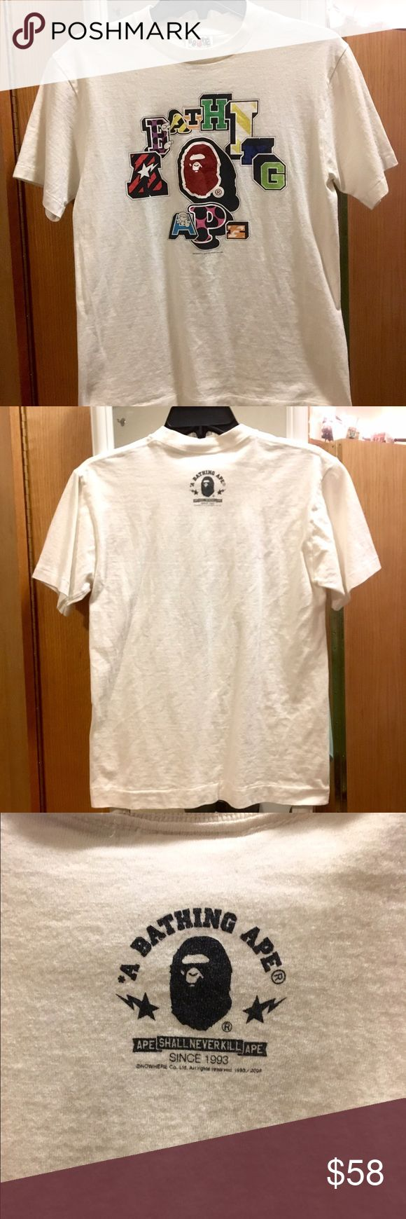 A Bathing Ape T-shirt Pretty much new. Barely had it for a year now. I don't wear it anymore. Kind of tight in the neck area personally. A Bathing Ape Tops Tees - Short Sleeve