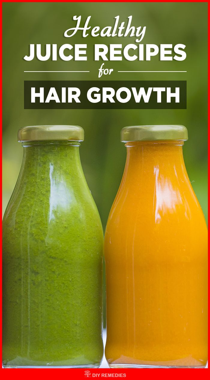 Healthy Juice Recipes for Hair Growth  Here are the best juice recipes for hair growth. You need to drink it daily to stop hair loss and to make your tresses strong.