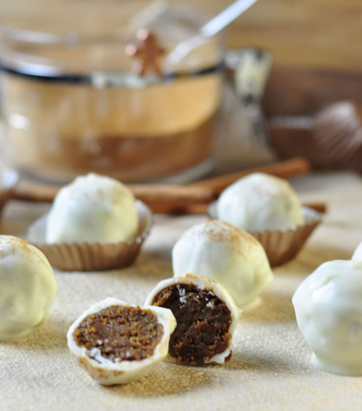 These are so freaking good!! Gingerbread bonbons covered in cinnamon spiked white chocolate!