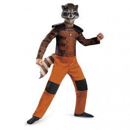 Disfraz de Rocket Raccoon Guardianes de la Galaxia para niño