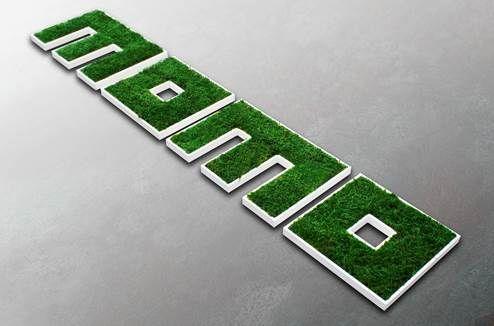 Flat moss logo #moss #mosstrend