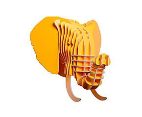 Голова слона - МДФ - желтый - Д37,7xШ31,1xВ42,6