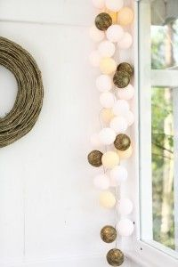 35 kul Natural Cotton Ball Lights