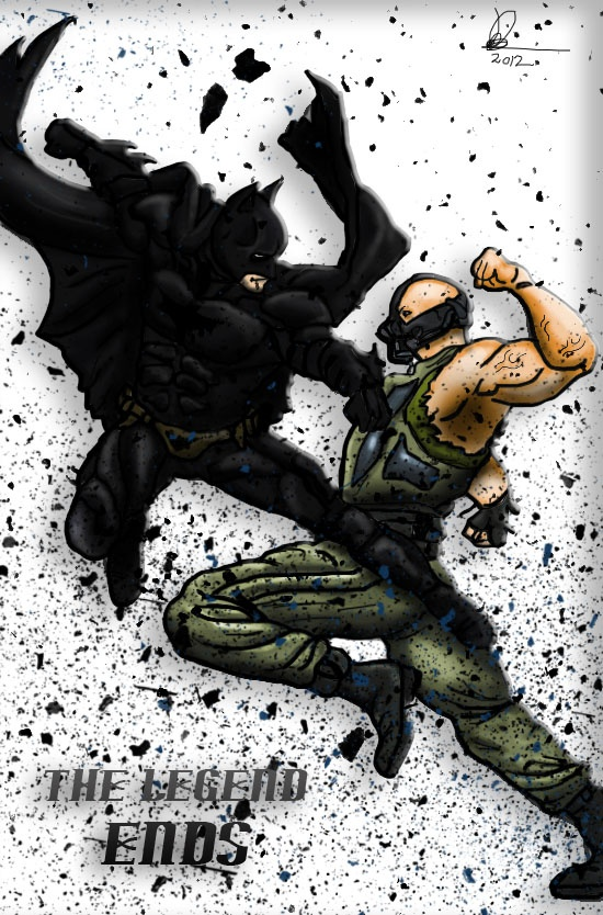 The Dark Knight rises is almost upon us!! to celebrate i had to do a Bane VS Batman piece,hope u guys enjoy.