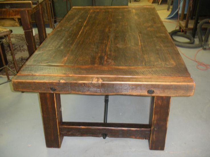 Dining Table: Reclaimed Barnwood Dining Table