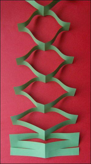 fabriquer une guirlande de Noël
