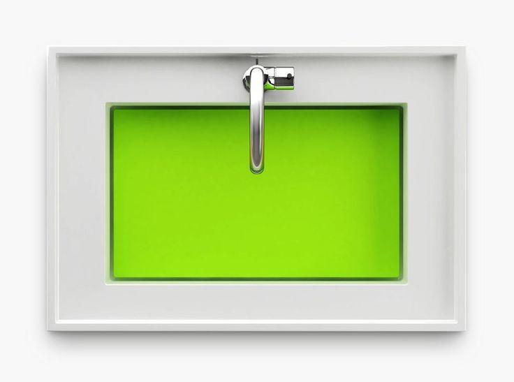 Un lavabo classique dans ses lignes, exotique dans ses couleurs !
