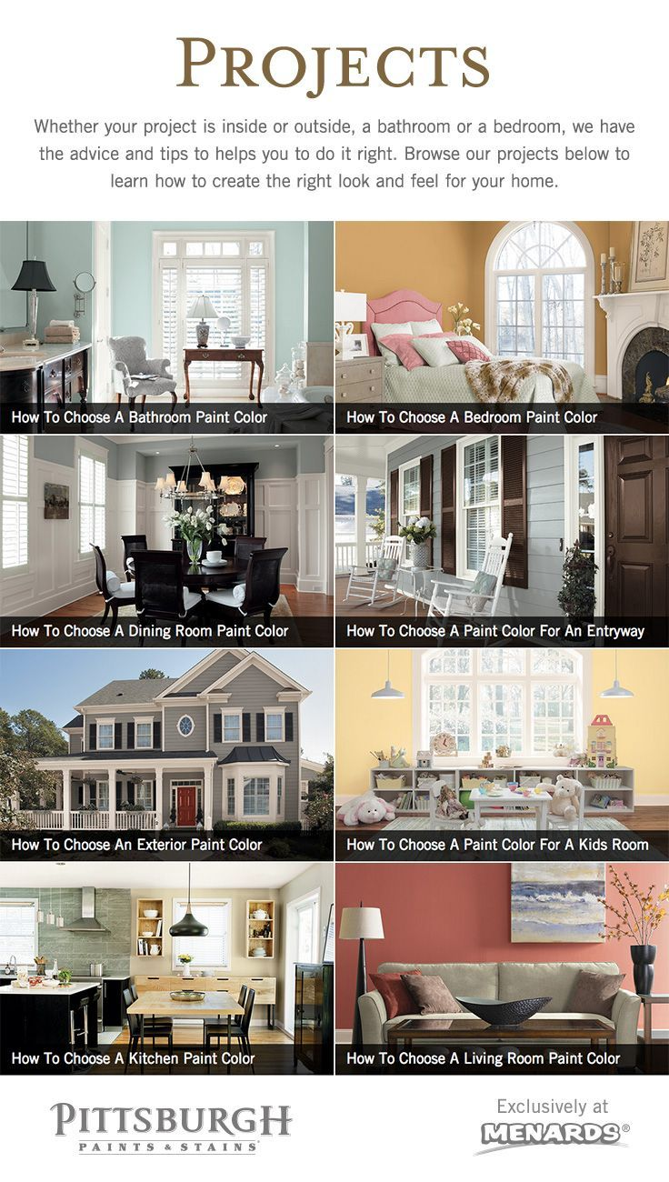 Paint color inspiration by room type from pittsburgh paints stains at menards whether your project is inside or outside a bathroom or a