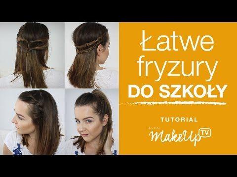 3 szybkie fryzury na co dzień do średnich włosów - Milena - YouTube