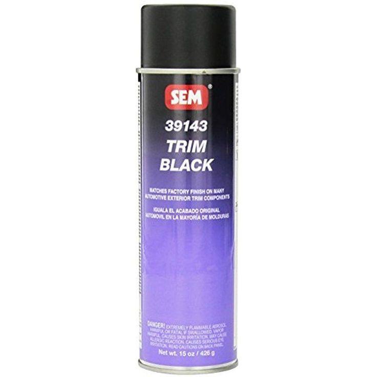Black Trim Paint Aerosol Acrylic Automotive Component Plastic Steel Chrome 15 Oz #SEM