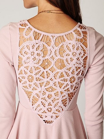 thermal+lace dress
