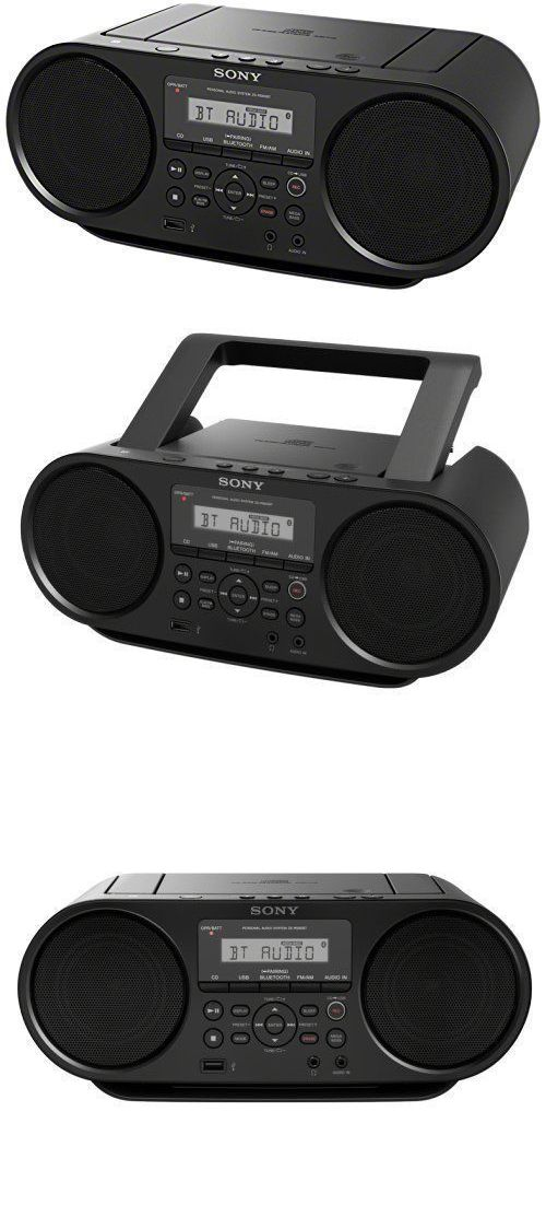 Portable Stereos Boomboxes: Sony Zsrs60bt Cd Boombox W Bluetooth, Nfc, Am Fm, Usb, Headphone Line-In Jacks -> BUY IT NOW ONLY: $49.95 on eBay!
