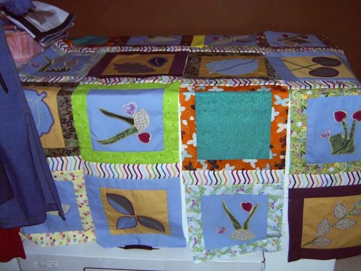 Yoyo applique quilt top #2 ~by Gypsy Stitches~