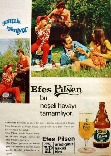 Efes Pilsen gençlik eğleniyor 1970.