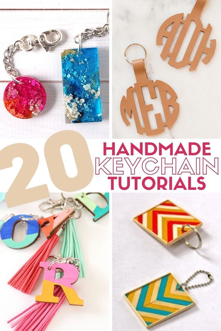 20 Of The Best Handmade Keychains Keyrings Handmade Keychains Handmade Crafts
