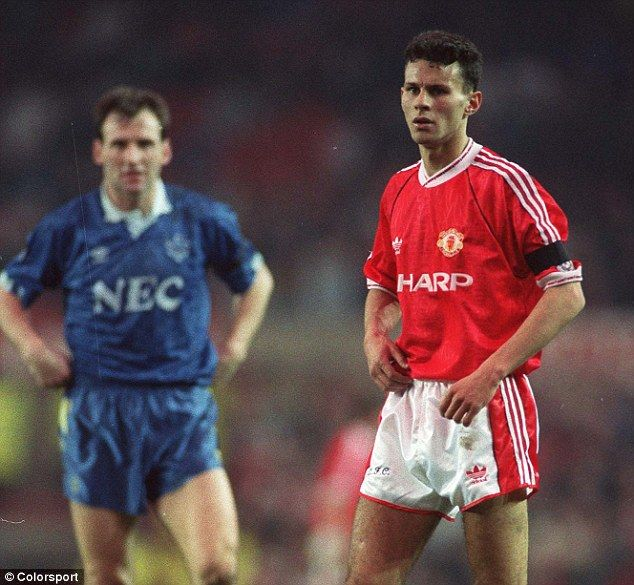 Ryan Giggs on his Manchester United debut against Everton in a 2-0 loss in 1991