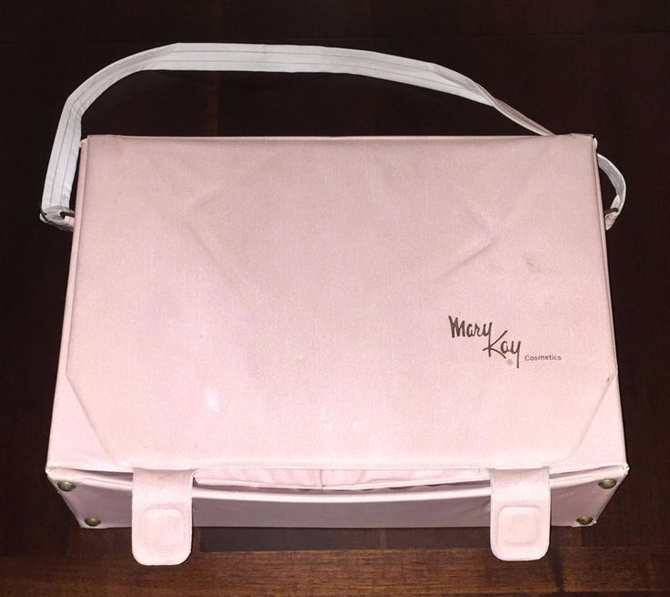 Vintage Mary Kay Cosmetics Bag Pink Makeup Carrying Case Travel Sales Consultant