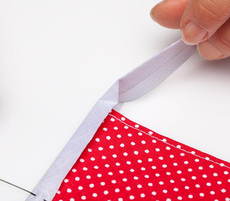 Schritt 2: wie nähe ich ein Schrägband an