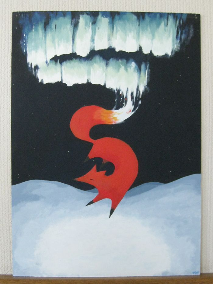 The Finnish believed a fox made the Northern Lights by running in the snow so that its tail swept sparks into the sky.~