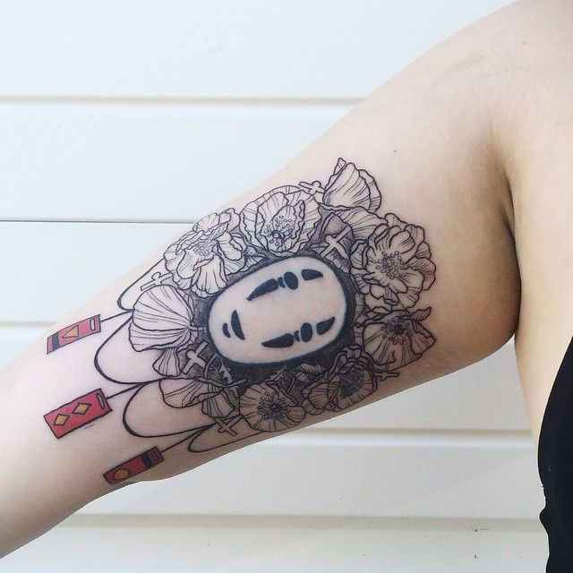 """Spirited away ! Added peonies and poppies and bath tokens. """"No face"""" not done by me! Thanks, Jackie! :)"""