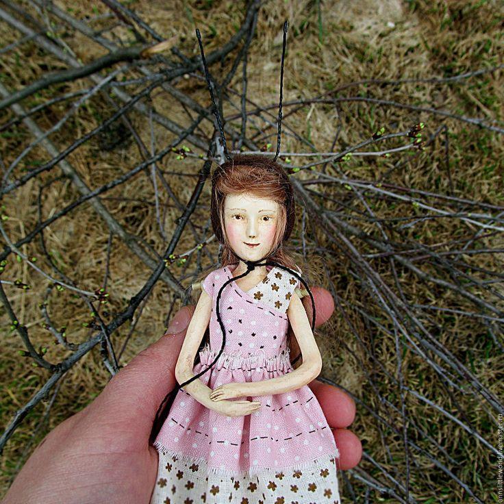 Купить Веснянка авторская куколка - кукла ручной работы, кукла в подарок, куколка