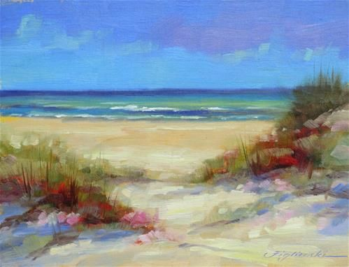 """Gulf Dunes"" - Original Fine Art for Sale - © Martin Figlinski"