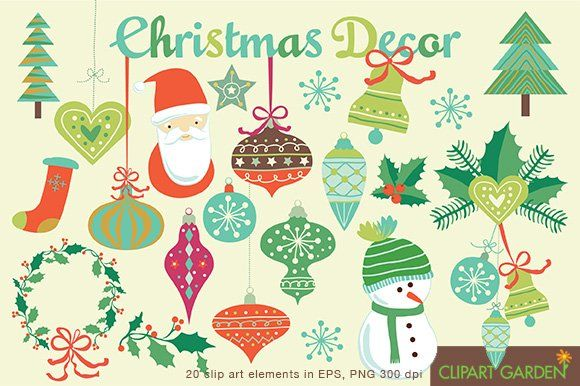 Christmas Ornament Clipart Clip Art Christmas Designs Graphic