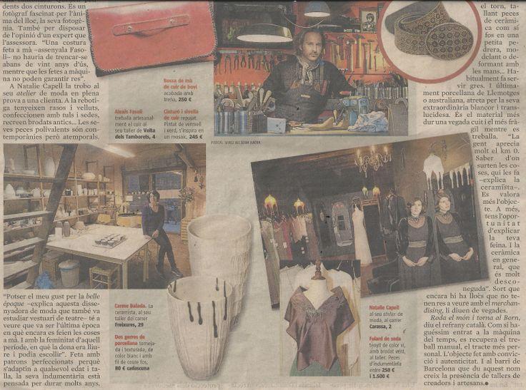 Today in La vanguardia, news paper...   www.nataliecapell.com