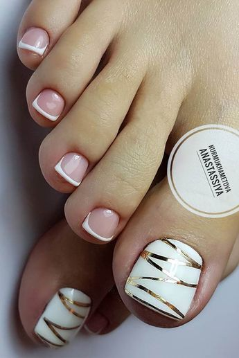 25 Pediküre Ideen - French Nails