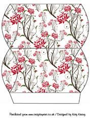 Vibrant Red Flowers On White Pillow Gift Box